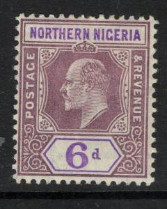 NORTHERN NIGERIA SG25 1905 6d DULL PURPLE & VIOLET MTD MINT