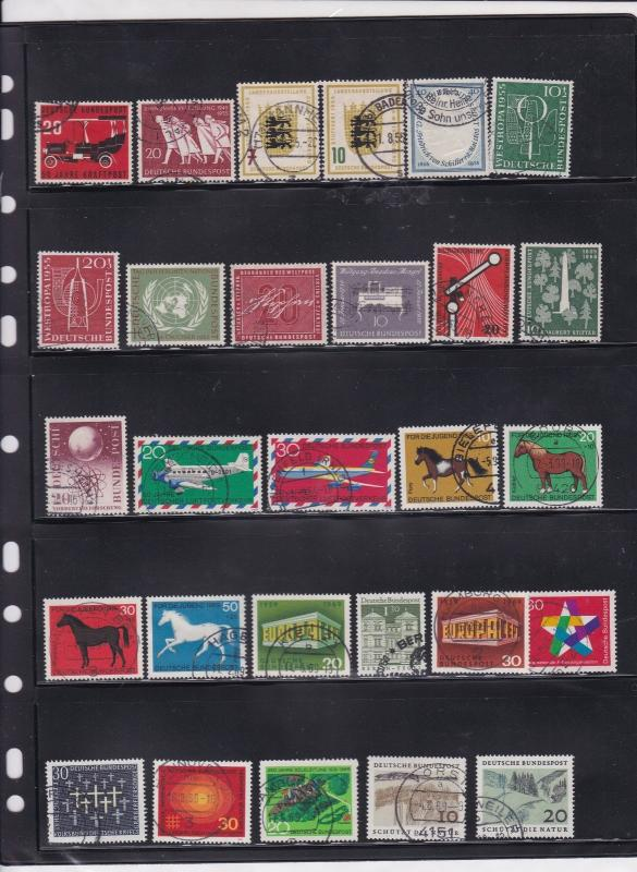 german mixed stamps page ref 17428