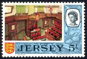 Jersey Sc# 19 MNH 1969 5sh Legislative Chamber