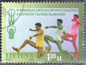 LITHUANIA SC# 603 USED  OLYMPICS  SEE SCAN