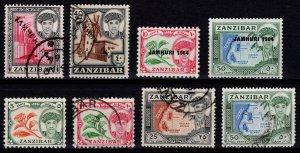 Zanzibar 1961/1964 Definitives and Revolution Optd., Part Set [Unused / Used]