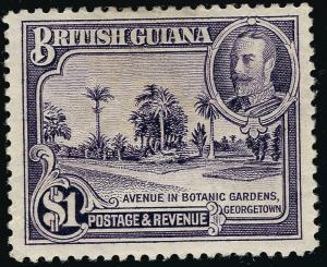 British Guiana #222 Mint OG F-VF hr/crease ...Fill a Key British Colony spot!