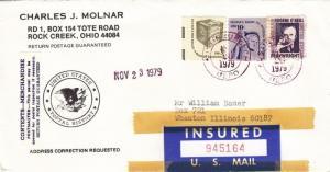 1979, Rock Creek, OH to Wheaton, IL, Insured (7991)