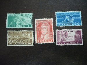 Stamps - Cuba - Scott# 375-379 - Used Set of 5 Stamps