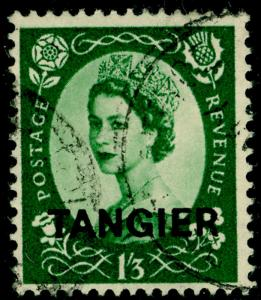 MOROCCO AGENCIES SG304, 1s 3d green, FINE USED.