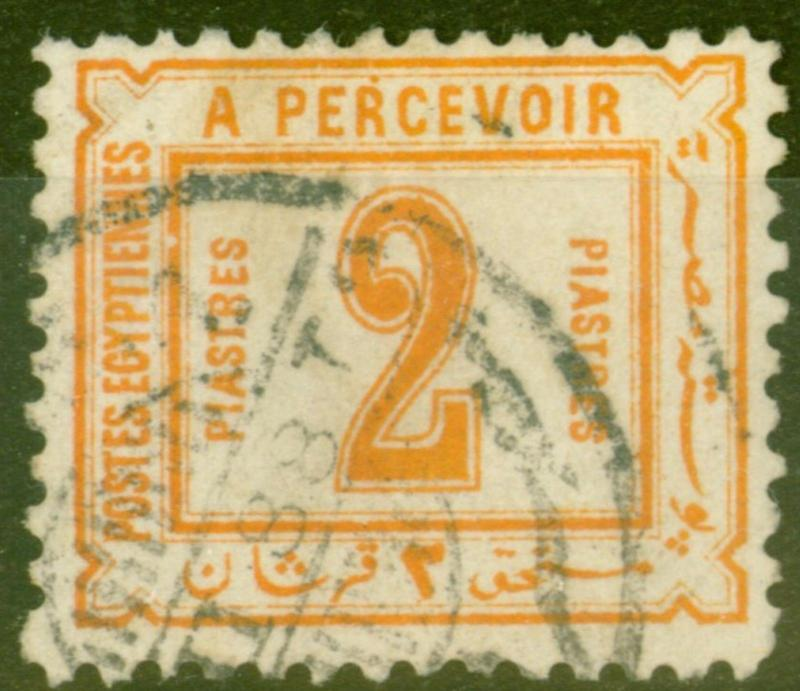 Egypt 1888 2pi Orange SGD69 Fine Used