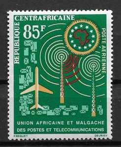 1962 Central Africa  #C10  African Postal Union MNH