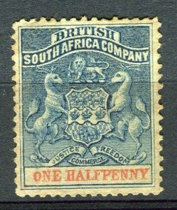 RHODESIA: 1892 early classic Springbok issue unused Shade of 1d. value