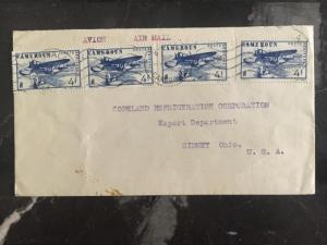 1946 Douala Cameron Commercial Cover To Copeland Refr Sydney Oh Usa