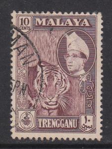 Malaya Trengganu 1957 Sc 80a 10c maroon Used