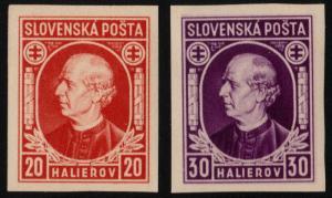 ✔️ SLOVAKIA 1939 - ANDREJ HLINKA IMPERF - SC.27/28 MNH OG [SK0027]