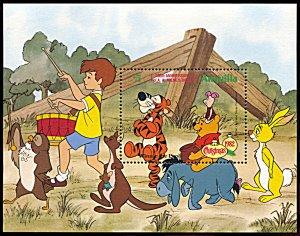 Anguilla 520, MNH, Disney Christmas 1982 Winnie the Pooh souvenir sheet