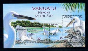 [39646] Vanuatu 2007 Birds Vögel Oiseaux Ucelli  Reef Heron MNH Sheet