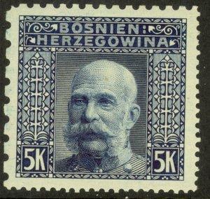 BOSNIA AND HERZEGOVINA 1906 5K FRANZ JOSEPH P.9.25x12.5x12.5x6.5 Sc 45d MNH
