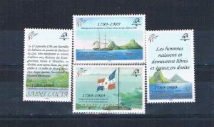 St Lucia 942-45 MNH set PHILEXFRANCE 1989 (S0931)+