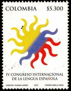 HERRICKSTAMP COLOMBIA Sc.# 1277 Int'l Spanish Language Congress