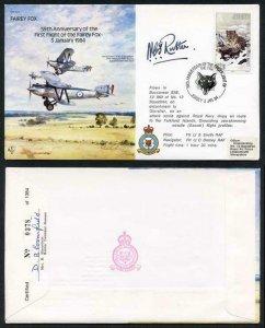 B15c 59th Ann 1st Flight of the Fairey Fox Signed by N.C.S. Rutter (N)