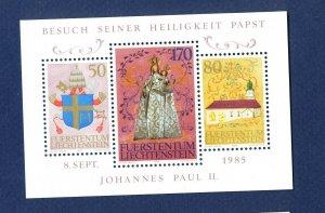 LIECHTENSTEIN - # 806 - VFMNH - Pope John Paul visit - 1985