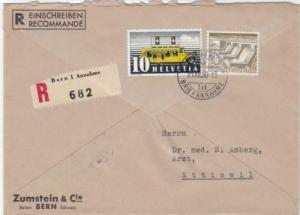 Switzerland 1950 Bern to  Ettiswil cancels stamps cover R 20014