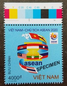 Vietnam Chairmanship ASEAN 2020 Flag Malaysia Brunei (stamp color) MNH *Specimen