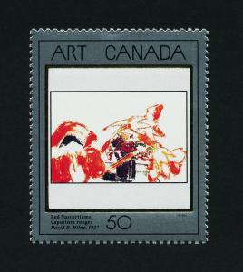 Canada 1419 MNH Red Nasturtiums, Art, Flowers