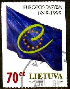 Council of Europe, 50th Anniversary, Lithuania stamp SC#630 used