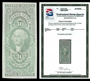 Scott R51a 1862 30c First Issue Revenue Used VF Cat $200 with PSE CERTIFICATE!