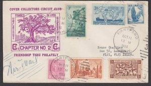 USA 1955 cover with nice franking to LAUTOKA, FIJI. ........................M110
