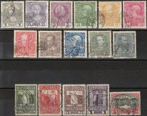 Stamp Austria SC 0110-25 1908 Leopold Ferdinand Franz Joseph Castle Vienna Used