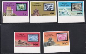Central Africa # 295-296, C184-186, Zeppelin 75th Anniversary IMPERF, NH