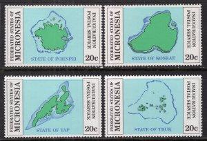 Micronesia 1-4 Maps Singles MNH VF
