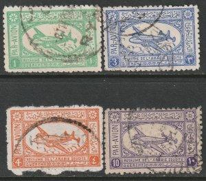 Saudi Arabia 1949 Sc C1-4 partial set used