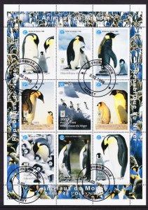 Niger 1998 Antarctic Penguins Sheet CTO