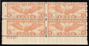 Doyle's_Stamps: MNH 1934 Globe & Wings 6c Airmail PNB, Scott #C19** LLC
