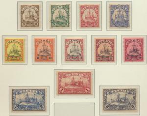 Samoa Stamps Scott #57 To 68, Used/Mint Hinged, Short Set - Free U.S. Shippin...