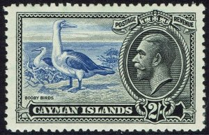 CAYMAN ISLANDS 1935 KGV BIRDS 2/-