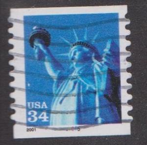 US #3477 Liberty Used PNC Single plate #5555