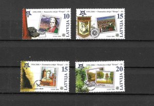 Latvia MNH 656-9 Stamps On Stamps 2006