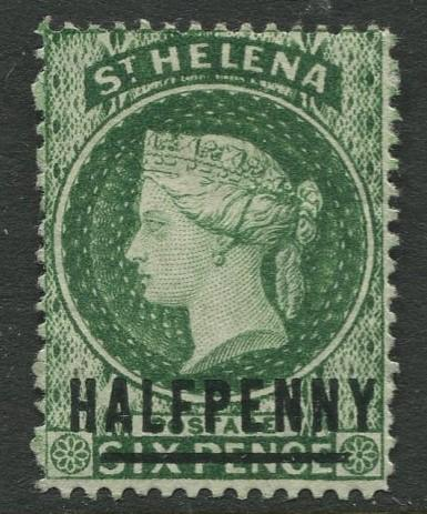 St.Helena - Scott 33 - QV Overprint -1884 - MNG - Single 1/2p on a 6p Stamp
