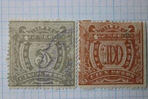Mexico Revenue HT16B 18B Hilaza y Tejidos 1895-1896 100p yarn fabrics textile