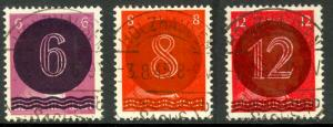 GERMANY SOVIET ZONE 1945 LOCAL WEST SAXONY HOLZHAUSEN Set Mi AI-AIII VFU FDOI