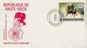 French West Africa, First Day Cover, Americana