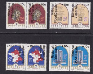 South Africa   #B15-B18   MNH  1988   flood relief in pairs