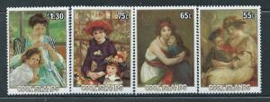 Cook Islands - Paintings with Children - 4 Stamp Set - 3L-010