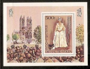 Republic Upper Volta 1978 25th Anni. of Coronation Queen Elizabeth Silver Ove...