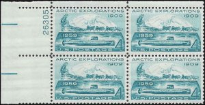 1128 Mint,OG,NH... Plate Block of 4... SCV $1.00