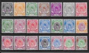 MALAYA PERLIS SG7/27 1949-55 DEFINITIVE SET MNH