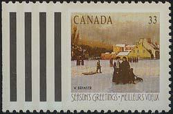 Canada - 1989 33c Christmas Montreal Winter #1259ii