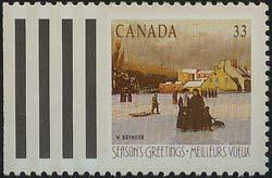 Canada - 1989 33c Christmas Montreal Winter #1259ii