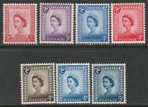 Isle of Man 1964 Sc 1-7 complete set MNH